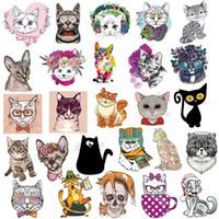 ingrosso auto del gatto dell'autoadesivo-50pcs serie gatto Graffiti adesivi animali del fumetto Personal Car Sticker Bagagli Skateboard Paster diversi stili 6 41nt Ww