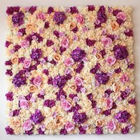 Wholesale flowers studios background resale online - 60x40 Cm Artificial Flower Wall Background Wedding Props Supplies Wall Decoration Arches Silk Flower Rose Peony Window Studio