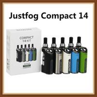 ingrosso vaporizzatore di justfog-Authentic Justfog Compact 14 Starter Kit 1500mAh Batteria incorporata E Vaporizzatore liquido con atomizzatore Vape da 1,8 ml 100% originale
