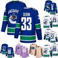 d9be481a8 Mens Vancouver Canucks 40 Elias Pettersson 26 Antoine Roussel 31 Anders  Nilsson 83 Jay Beagle 20 Brandon Sutter 7 Josh Leivo Hockey Jerseys
