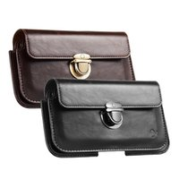 Wholesale money clip leather case resale online - Waist Bag Leather Pouch Case Cover with Holster Belt Money Pocket Universal for iPhone Samsung LG inch Phone