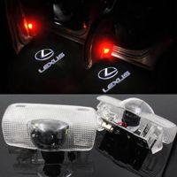 iluminación lexus al por mayor-2pcs luz LED de la puerta de coche para Lexus RX ES GX LS LX es agradable del laser de las lámparas del proyector de estilo fantasma sombra agradable del coche Accesorios Logo Light