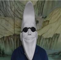 mascarada completa mascaras hombres al por mayor-Blanco divertido hombre de la luna mujeres cabeza llena máscara de látex cara disfraz de halloween bola cosplay fiesta máscara máscara de la mascarada