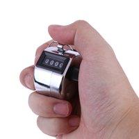 счетчики счетчиков оптовых-Металлические ручные счетчики Мини Спортивные счетчики Lap Golf Ручное руководство 4-значный номер Счетчик Tally