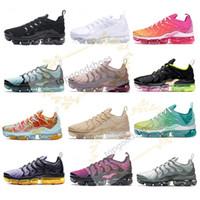zapatillas zapatillas al por mayor-El envío gratuito Nuevo 2019 para hombre zapatillas de deporte TN Plus aire respirable Cusion Desingers zapatos corrientes ocasionales de la nueva llegada del color US5.5-11 EUR36-45