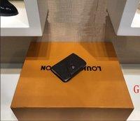 männer kleine taschenstreifen großhandel-LV gucci Chanel Berühmte Luxusmarke Designer Männer und Frauen Karte Tasche Brieftasche Mode Männer Karte Tasche Leder Design Luxus Karte Paket