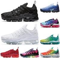 siyah limon toptan satış-nike air vapormax plus TN Buz Mavisi erkek kadın koşu ayakkabı Hiper Menekşe Limon Kireç Olabilir Gerçek üçlü siyah beyaz Gökkuşağı açık erkek eğitmenler spor sneakers