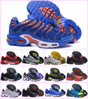 tailles grandes tailles achat en gros de-Vente en gros 2019 TN PLUS Baskets à la Mode Originale TN AIR AIR Chaussures Vente TOP Qualité Pas Cher France BASKET TN ReQUIN ChauSSures Taille 40-46