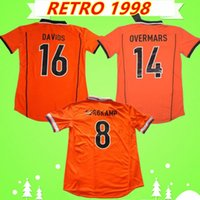 Wholesale netherlands football shirt resale online - Final soccer jerseys KLUIVERT DE BOER SEEDORF Retro Netherlands Vintage Holland football shirts Classic BERGKAMP OVERMARS DAVIDS COCU