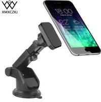 telefon-armaturenbretthalter großhandel-XMXCZKJ Dash Magnetische Windschutzscheibenhalterung Handyhalter Lange Arm Ständer Für Iphone XR Magnet Handyhalter für Mi8