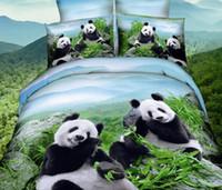 Wholesale cotton bedding set 3d resale online - 3D Panda Dophin Printing Bedding Set Polyester Duvet Cover Pillowcase Sets Bedclothes set Full Size cm
