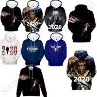 3d bluz toptan satış-XS-4XL 3D Donald Trump 2020 Hoodies Erkek Kadın Tişörtü Bluzlar Kapşonlu Kazaklar Casual Spor Hip Hop Kazak Ev Giyim B82204 Tops
