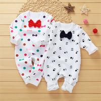 neugeborene jungen sleepwear groihandel-Baby Strampler New Autumn Spring Baby Langarm Jummsuit Strampler Neugeborenen Jungen Mädchen Kleidung Pyjamas Nachtwäsche Kleidung