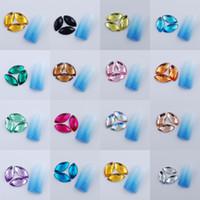 Wholesale orange gemstones for sale - Group buy mm bag Crystal Acrylic Horse eye Shape Rhinestone Nail Art Flat Back Gemstone