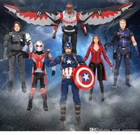 Wholesale wolverine gifts resale online - Free DHL Marvel Toy The Avengers Superhero Figure Thor Captain America Wolverine Spider Man Iron Man Collectible Model Dolls Toys Kids Gift