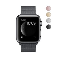 Wholesale band cases online - For Apple Watch Series4 Milanese Stainless Steel Watch Band with protective case Strap Magnetically absorbed watch strap mm pc
