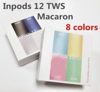kablosuz bluetooth toptan satış-Renkli inpods 12 inpods12 i12 Macaron renk Bluetooth kablosuz TWS kulaklık Tüm Akıllı Telefon pencere dokunmatik Earbuds Kulaklık açılır