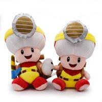 ingrosso funghi ripieni-Funghi di 22cm Minatori Super Mario Rospo peluche peluche Mario giocattoli di peluche migliore regalo bambola lol spedizione gratuita