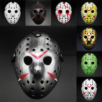 Wholesale jason voorhees masks for sale - Group buy Halloween Black Friday NO Jason Voorhees Freddy hockey festival party Halloween masquerade mask adult size gram