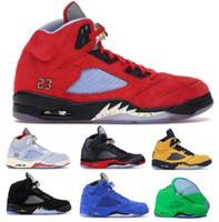 kadınlar için siyah süet ayakkabıları toptan satış-Mens 5 5 s Basketbol Ayakkabıları Sneaker Siyah Süet Trophy Odası Laney Saten Kanatları Inspire Oreo Olimpiyat Kadınlar 2019 Yeni ...