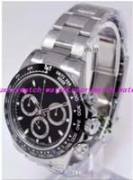 ingrosso migliore orologio automatico del cronografo-Orologio di lusso di alta qualità 40mm Cosmograph 116500 116500LN 904L Cronografo in acciaio Swi ss CAL.4130 Orologio automatico da uomo