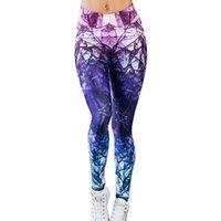 yoga sexy mezclado al por mayor-Vertvie Mujeres Pantalones de Yoga Pantalones Deportivos de Fitness Moda Color Mezclado Impreso Pantalones de Chándal Gimnasio Medias Leggings Entrenamiento Para Yoga # 298772