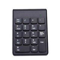 dizüstü bilgisayar için numara tuş takımı toptan satış-Daha Fonksiyon Tuşları Rakam PC Laptop Tuş takımı Mini Numpad İçin Kablosuz 2.4G Mini USB 18 Tuşları Rakam Sayısal Tuş Takımı Klavye