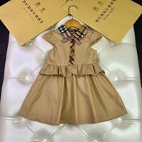 Wholesale luxury kids princess dresses resale online - Baby Kids Clothing Girls Fashion Stripe Dress Summer Wear In Lace Princess designer luxury Skirt Joint Children s Garment Dresses