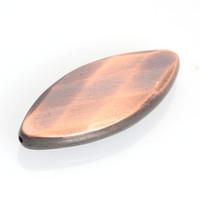 facettierte ovale perlen großhandel-Neue Ankunft 20 Stücke Pinsel Antike Design Überzug Acryl CCB Facettierte Flache Oval Spacer Perlen Für Diy Schmuckherstellung