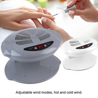 Wholesale hand blower fan resale online - Nail Dryer Fan Warm Cool Wind UV Gel Polish Varnish Drying Manicure Blower For Both Hands and Toes Nail Manicure Tool