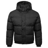 chaqueta de marcas preppy al por mayor-JOYCODIN chaqueta para hombre abrigo de invierno de la marca marca joven estudiante chico chaqueta caliente con capucha corta de gran tamaño estilo preppy