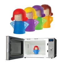 herramientas de horno de microondas al por mayor-Angry Mama Limpiador de microondas Horno Limpiador de vapor Utensilios de cocina Utensilios de cocina Refrigerador de cocina herramientas de limpieza FFA1788 12pcs