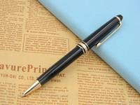 Wholesale red golden pen for sale - Group buy New golden black Luxury Lacquerred golden Clip Ballpoint Pen