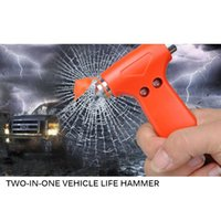 Wholesale tools cut glass resale online - 2 In Mini Car Safety Hammer Life Saving Escape Hammer Cutting Knife Multi Tool Car Window Broken Emergency Glass Breaker