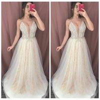 Wholesale plus size wedding dresses beaded tops for sale - Group buy 2020 Spaghetti Strips A Line Lace Wedding Dresses Beaded Top Bridal Gowns Formal Long Vestidos De Marriage Sexy Plus Size
