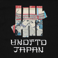 freies t-shirt großhandel-UNDEFEATED UKIYOE SUMO T-Shirt Schwarz Japan Begrenzte XL Größe Männer Frauen Unisex Mode tshirt