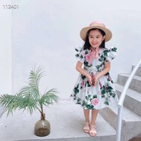 Wholesale summer clothes for beach resale online - beach skirt baby girl dress flowers for kids summer toddler party beach skirt children Clothing
