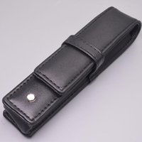 Wholesale prices chool supplies Good Quality Pens case gift pen bag black leather Famous pu pouchs