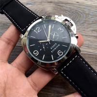 relógios automáticos suíços de qualidade venda por atacado-Os homens assistem venda de alta qualidade relógio de luxo automático mens watch moda swiss brown couro azul dial top marca designer relógios homens de luxo