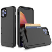 Wholesale cases for lg cell phone for sale – best for Samsung Note Pro A10e LG Stylo Stylo Matte Finished Cell Phone Case with Card Slot Capacity Cards Holder Back Cover