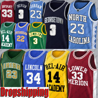 nord carolina basketball groihandel-Bel Air Academy Will Smith Jersey Jeseu Shuttles 34 Lincoln Michael Iverson Rodman Crenshaw Mamba Banks North Carolina Dropshipping
