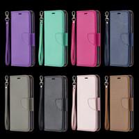 bolsa de mala de design venda por atacado-Caso de carteira de couro de luxo para LG K40 K50 Q60 Stylo 5 Samsung A10E A20E A10 A20 A40 A70 Leechee Litchi Knife Design ID Slot Flip Cover Pouch