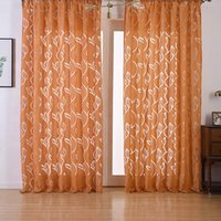 тканые шторные ткани оптовых-European Fashion Style Jacquard Design Semi-blackout Curtains Home decoration Modern Curtain Tulle Fabrics Organza Sheer BS