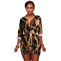 ingrosso vestito nero dalla camicetta lunga del manicotto-Summer Mini manica lunga vintage Dress Donna Classic Retro Camicetta Party Beach Abiti casual Nero S-XL