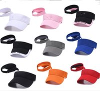 Wholesale wide brimmed baseball caps resale online - U A Brand Designer UV Sun Protection Visor Cap Wide Brim Beach Visor Golf Tennis Hat Sports Outdoor Baseball Cap Summer Empty Top HatB62801