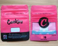 çerez paketleme torbaları toptan satış-Kırmızı çerezler mylar çantası 3.5 gram koku geçirmez stand up kilitli kuru ot ambalaj kılıfı