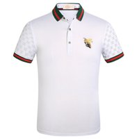 camisas de polo diseñadas al por mayor-Nuevo estilo de negocios POLO famoso diseñador POLO wild polo para hombres big bee bordado diseño business casual camisa de alta calidad