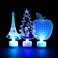 Wholesale decorative wall night lights resale online - home decoration accessories Christmas Creative Colorful Butterfly Night Light Can Paste LED Decorative Wall room decoration