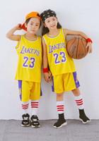 venda de roupas infantis venda por atacado-Venda por atacado de basquete Americano 23 # (JAMES) super basquete estrela personalizado de basquete roupas de esportes ao ar livre roupas para crianças grandes
