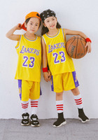 Wholesale sports clothes for children resale online - sale American basketball JAMES super basketball star custom basketball clothing outdoor sports clothing for big children